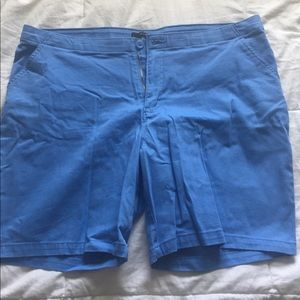 Plus size khaki blue shorts